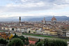 Florence, Italy; view of the Duomo and the Arno
