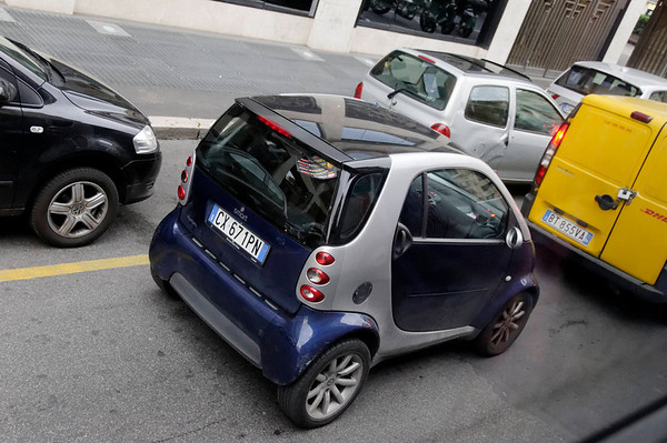 Rome, Italy; Smart cars were everywhere