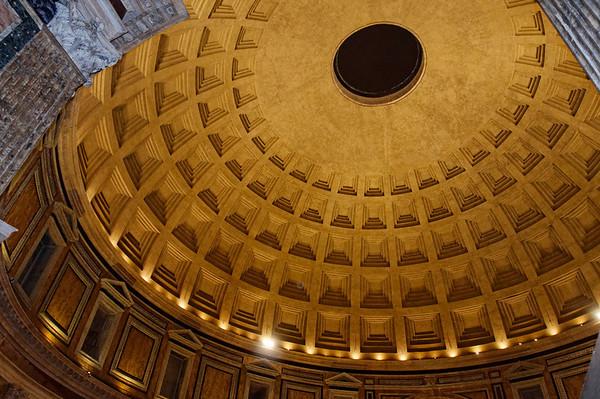 Rome, Italy; the Pantheon interior