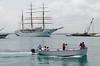 Sailing ship and tour boat, Ortigia Sicily