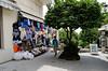 Citrus tree, hydrangeas, shopping and steep hills, must be Taormina Sicily