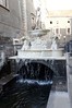 Fountain near our hotel in Catania Sicily, behind which was the daily fish market
