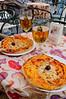 Pizza and beer at the Amigos Bar, Taormina, Sicily