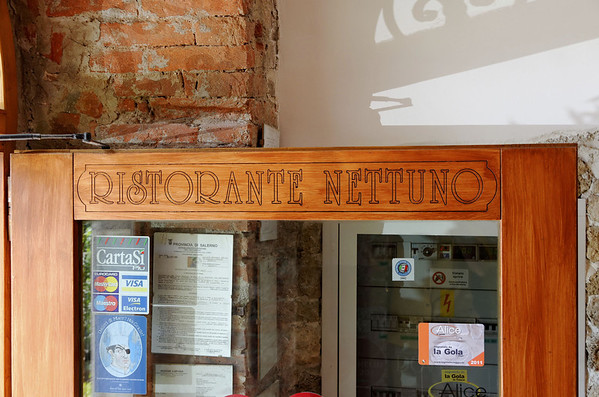 Lunch at the Ristorante Nettuno, Paestum Italy