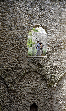 Image through a wall, Ravello Italy