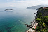Sorrento coastline with Vesuvius in the background, from the Grand Hotel Europa Palace balcony