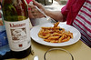Some fine pasta and wine, Amalfi Italy