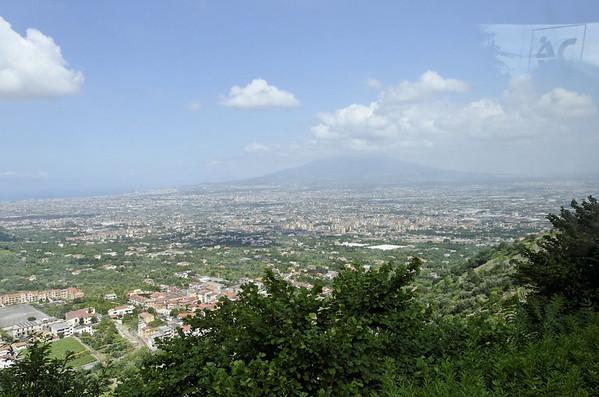 View of Vesuvius, road to Ravello