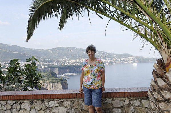 Suzanne with Sorrento in the background