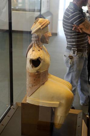 Statue of Zeus (520 BC), terracotta, Paestum Museum Italy