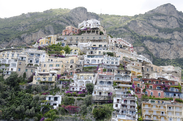 Arrival in the vertical town of Positano Italy