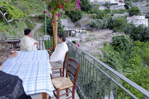 """Leisurely 3 hour dinner at the """"Farm"""", Il Cavaliere dei Conti, an agriturismo near Hotel Raito, Vietri sul Mare Italy"""