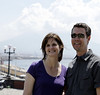 Our K-State hosts, Jodi and Chad, Naples Italy