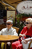 Elegantly attired couple at a cafe, Naples Italy