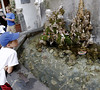 Fountain peopled with small figures, Amalfi Ialy