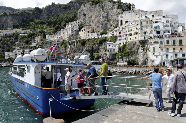 Boarding for Positano, Amalfi Italy