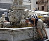 Mit drinks from the fountain of life, Amalfi Italy