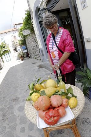 Fruit, lemons, and lemon liquor, Ravello Italy