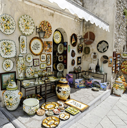 Ceramics were found throughout our trip, Ravello Italy