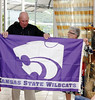 No K-State trip would be complete without the flag, Hotel Raito, Vietri sul Mare Italy
