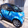 Polignano a Mare, SmartCar with interesting paint