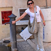 Ostuni, Daniella with water fountain built by the Facists