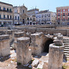 Lecce, Piazza Saint'Oronzo, Roman amphitheater only partially excavated, once seated 20,000