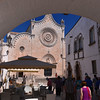 Ostuni, cathedral with closed rose window
