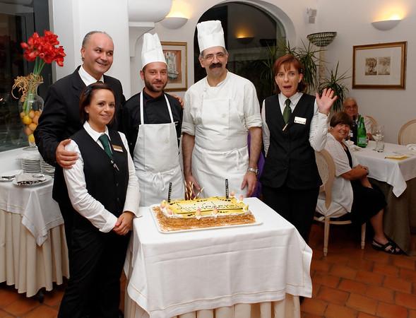 Polignano a Mare final dinner, hotel wait staff