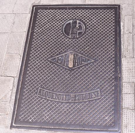 Matera, Fascist-era manhole cover