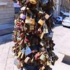 Lecce, Piazza Saint'Oronzo, lock scupture