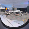 DAY 2:  Arrival at Frankfurt Germany - the previous largest passenger jet, the Boeing 747.