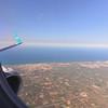 Air Dolomiti to Bari Italy, over the southern Adriatic coastline of Italy