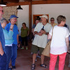 Wine tasting at a winery south of Corato, great wine, food and companions
