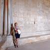 Andria, Castle del Monte, Pat poses for Steve
