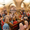 Bari, crypt of Cathedral of St. Nicholas, many Russian Orthodox members observing a special holiday of the church