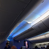 Chicago to Houston on Boeing 787 Dreamliner, mood lighting and high ceilings