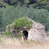 On the road to Castle del Monte, abandonded trulli