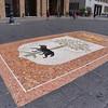 Lecce, Piazza Saint'Oronzo, mosaic with lecce tree (oak variety)
