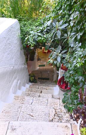 Ostuni, very steep steps to bar
