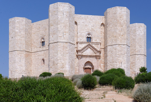 Andria, Castle del Monte, largely reconstructed from ruins, build by Frederick II in the 13th century.  Frederick II died in 1250,