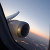 Chicago to Houston on Boeing 787 Dreamliner, banking with Chicago below