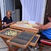 Bari, making orecchiette