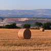 Le Querce di Mamre Agriturismo: hay at sunset with quarry where stone for buildings is cut
