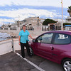Bari, Palese area:  our fuschia Renault Twingo - underpowered but nimble