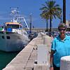 Molfetta:  Suzanne at the marina