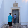 Masseria del Crocifisso, entering the church which is still used and Mass is said on Sunday with about 50 parisioners attending