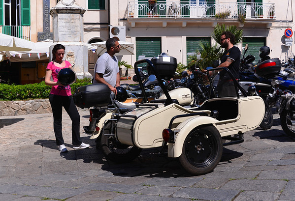 Tropea:  lots of conversation about the sidecar