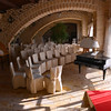DAY 4:  Le Querce di Mamre Agriturismo:  setup for a piano recital