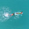 Tropea:  splashing in the Mediterranean